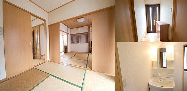 和室6畳+6畳+4.5畳の平屋1戸立て